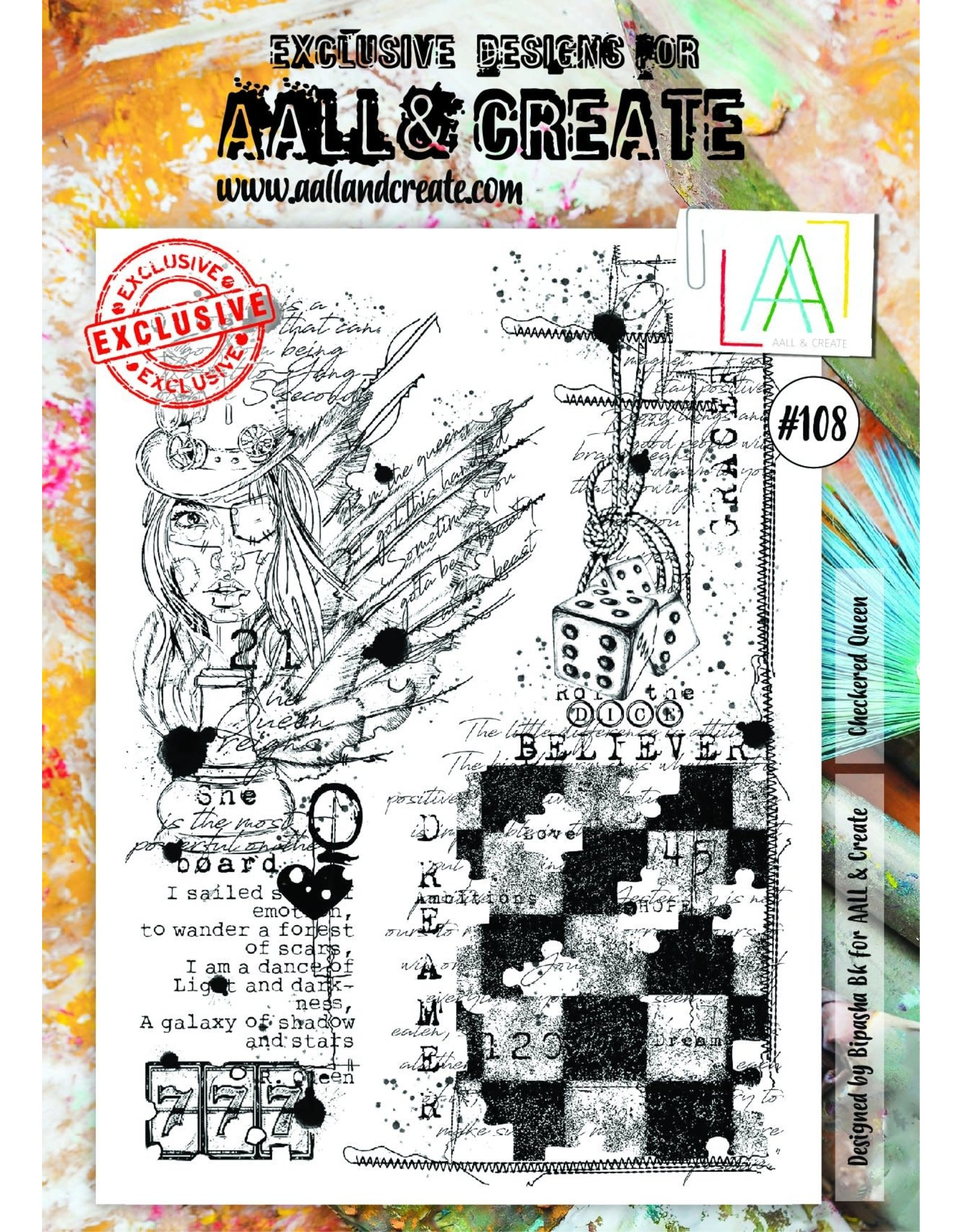 Aall& Create Aall & Create  A4  stamps #108