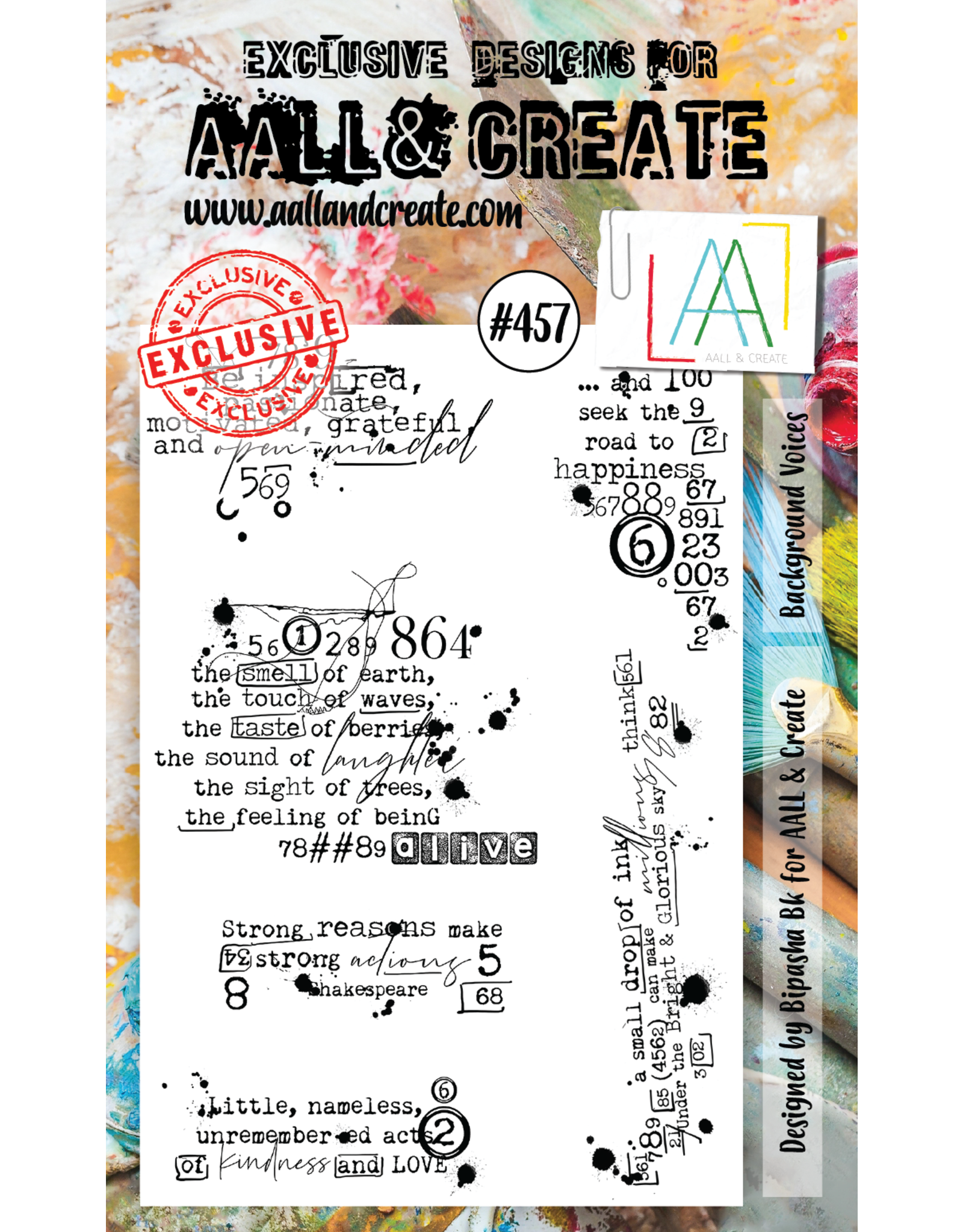 Aall& Create Aall & Create  A6  stamps #457