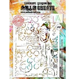Aall& Create Aall & Create  A4  stencil #47