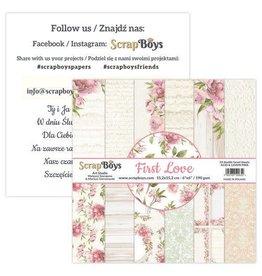 Scrapboys ScrapBoys First Love paperpad 24 vl+cut out elements-DZ FILO-09 190gr 15,2x15,2cm