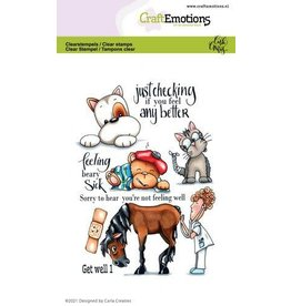 Craft Emotions CraftEmotions clearstamps A6 - Get well 1 Carla Creaties
