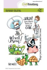 Craft Emotions CraftEmotions clearstamps A6 - Get well 2 Carla Creaties