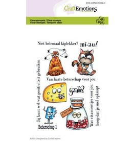 Craft Emotions CraftEmotions clearstamps A6 - beterschap 1 Carla Creaties
