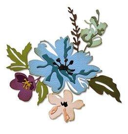 Sizzix Sizzix Thinlits Die Set - 8PK Brushstroke Flowers #2 665210 Tim Holtz