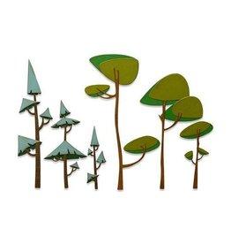 Sizzix Sizzix Thinlits Die Set - 6PK Funky Trees 665217 Tim Holtz