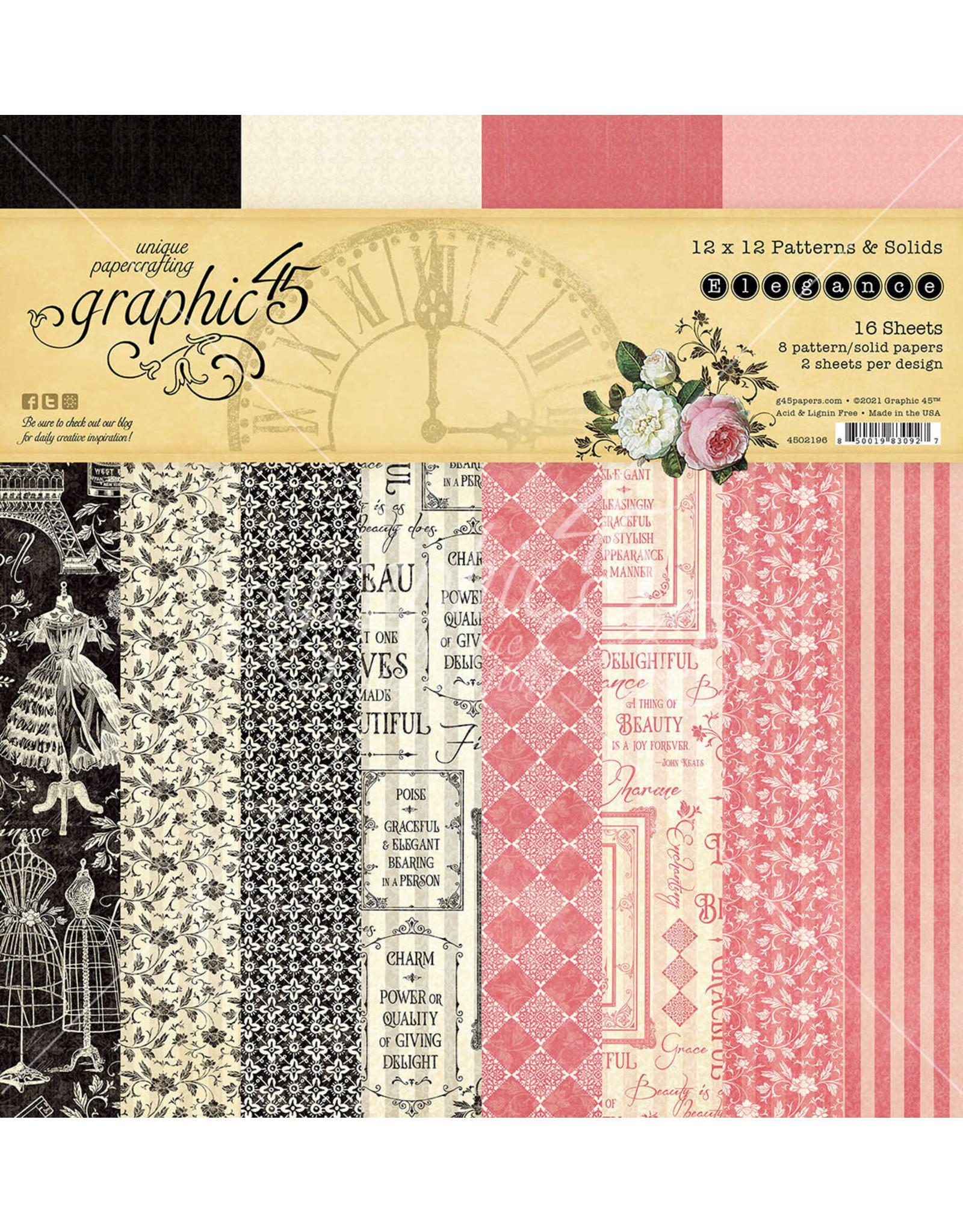 Graphic 45 Graphic 45 Elegance Patterns & solids 12 x 12 ( 30.5 x 30.5cm)