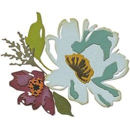 Sizzix Sizzix Thinlits Die Set - Brushstroke Flowers #3 5PK 665360 Tim Holtz