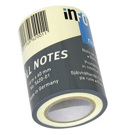 Roll notes Roll Notes Navulling Info Notes (masking tape)