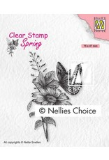 Nellie's Choice Nellies Choice Clearstempel - Vlinders SPCS018 75x47mm