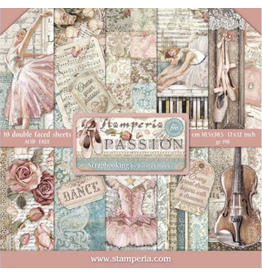 Stamperia Stamperia Passion 12x12 Inch Paper Pack (SBBL84)