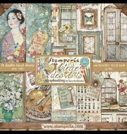 Stamperia Stamperia Atelier des Arts 12x12 Inch Paper Pack (SBBL85)