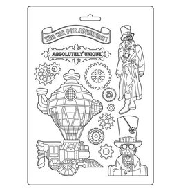 Stamperia Stamperia Soft Mould A4 Sir Vagabond Train (K3PTA488)
