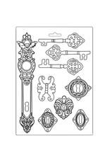 Stamperia Stamperia softmould a4 Lady Vagabond keys and locks K3PTA485