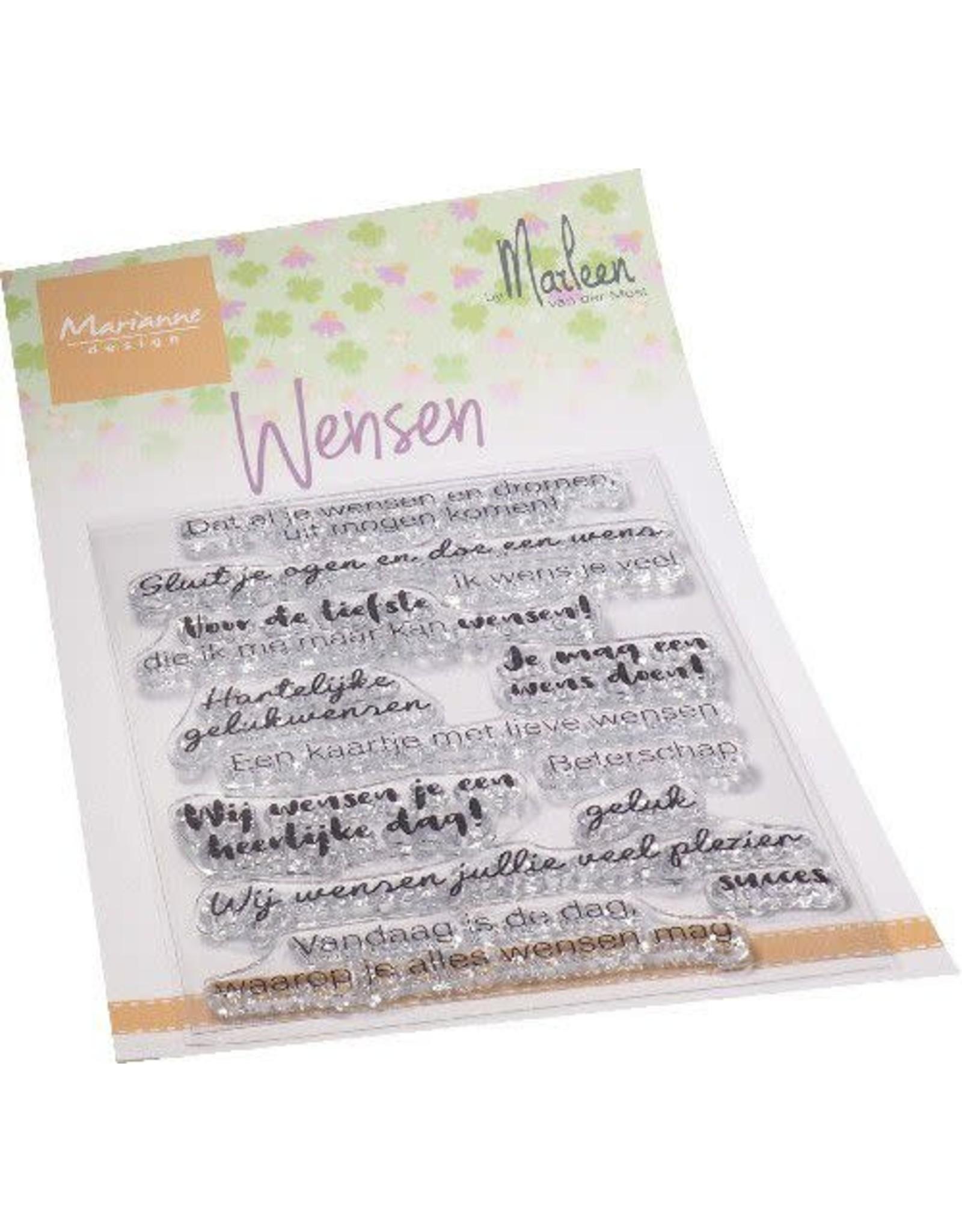 Marianne Design Marianne D Clear Stamps Wensen (NL) by Marleen CS1078 110x180mm