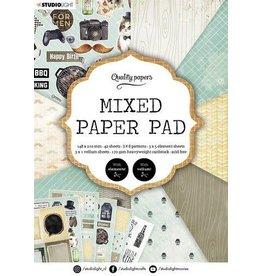 Studio Light Studio Light Mixed Paper Pad Pattern paper Essentials nr.160 A5MPPSL160 A5