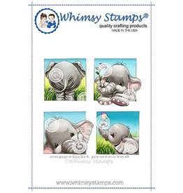 Whimsy Stamps Whimsy Stamps  Ellie Summer Squares Rubber Cling Stamp