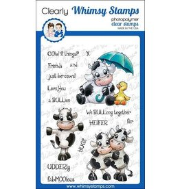 Whimsy Stamps Whimsy stamps Cow Friends Clear Stamps