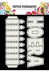 Dutch Doobadoo Dutch Doobadoo Card Art tekst Hoera + Kaarsen A5 (NL) 470.713.779