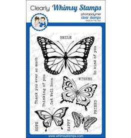 Whimsy Stamps Whimsy Stamps Butterflies Clear Stamps CWSD305