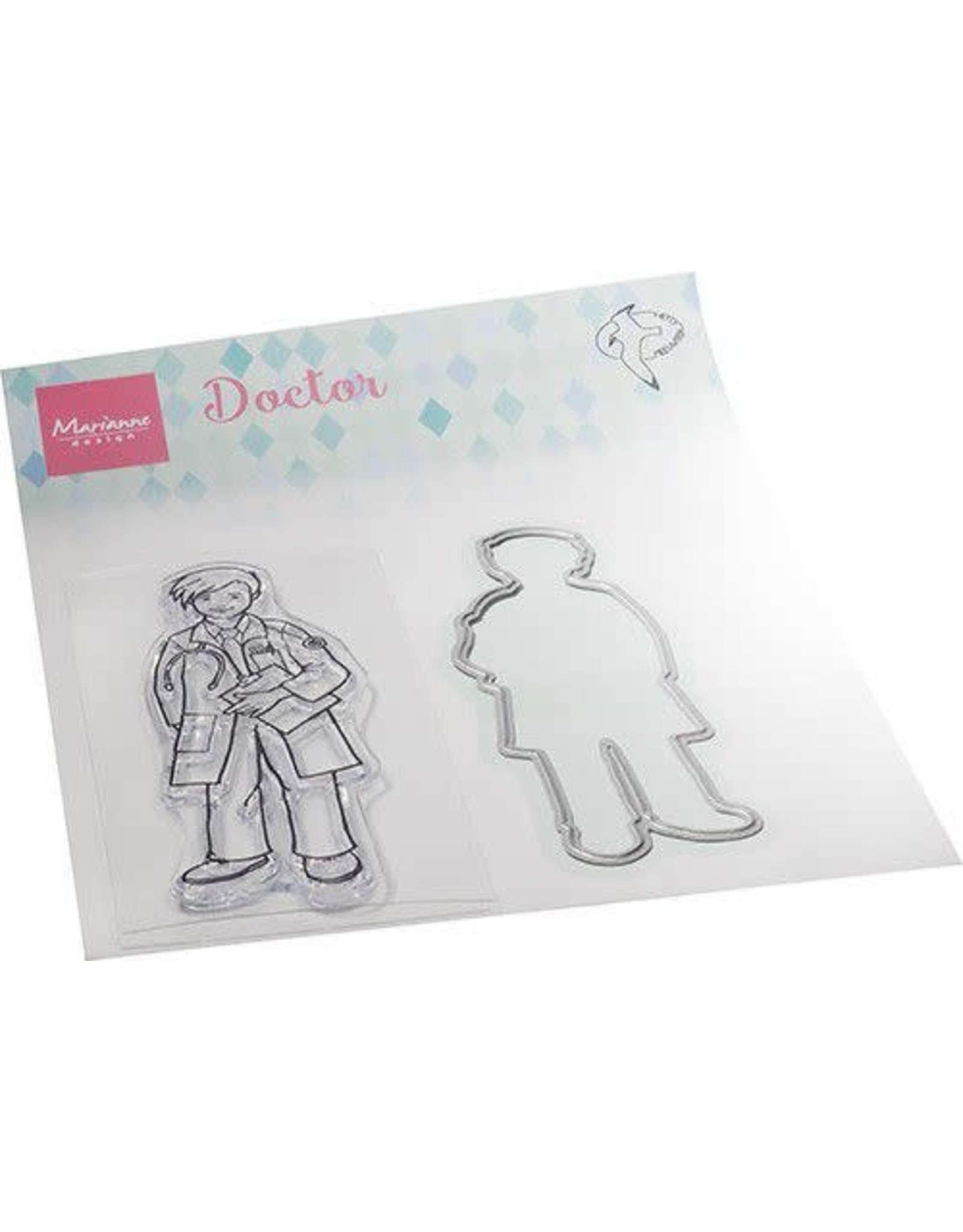 Marianne Design Marianne D Clear Stamps Hetty's Dokter HT1660 30x85mm, 32x87mm