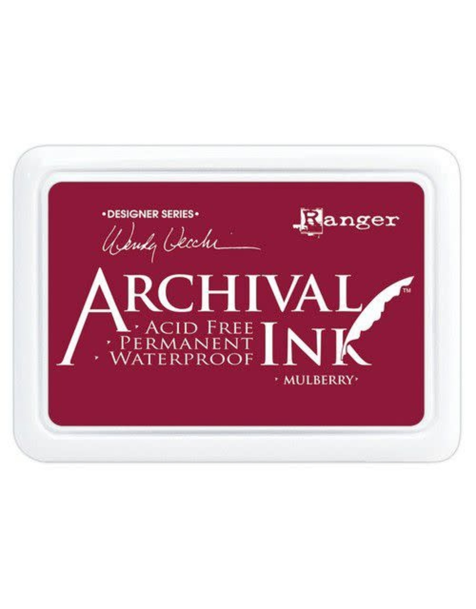 Ranger Ranger Archival Ink pad - Mulberry AID73994 Wendy Vecchi