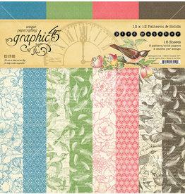 Graphic 45 Graphic 45  Bird Watcher   Patterns & Solids 12 x 12