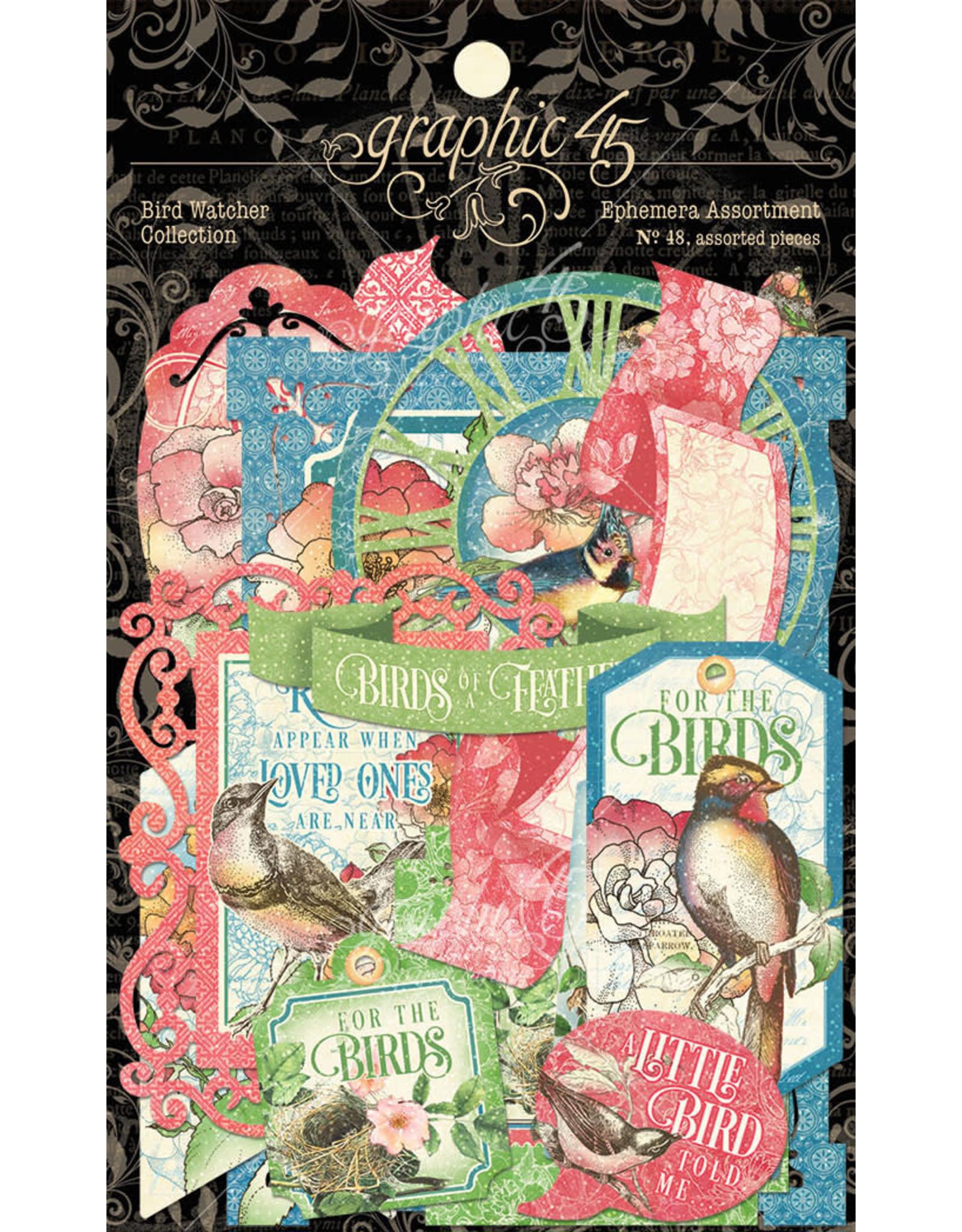 Graphic 45 Graphic 45  Bird Watcher  Ephemera Assortiment