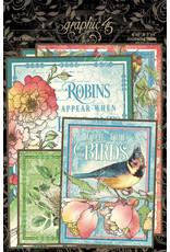 Graphic 45 Graphic 45  Bird Watcher  Journaling Cards