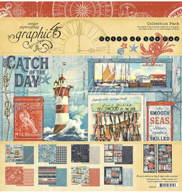 Graphic 45 Graphic 45  Catch of the Day Collection pack 12 x 12