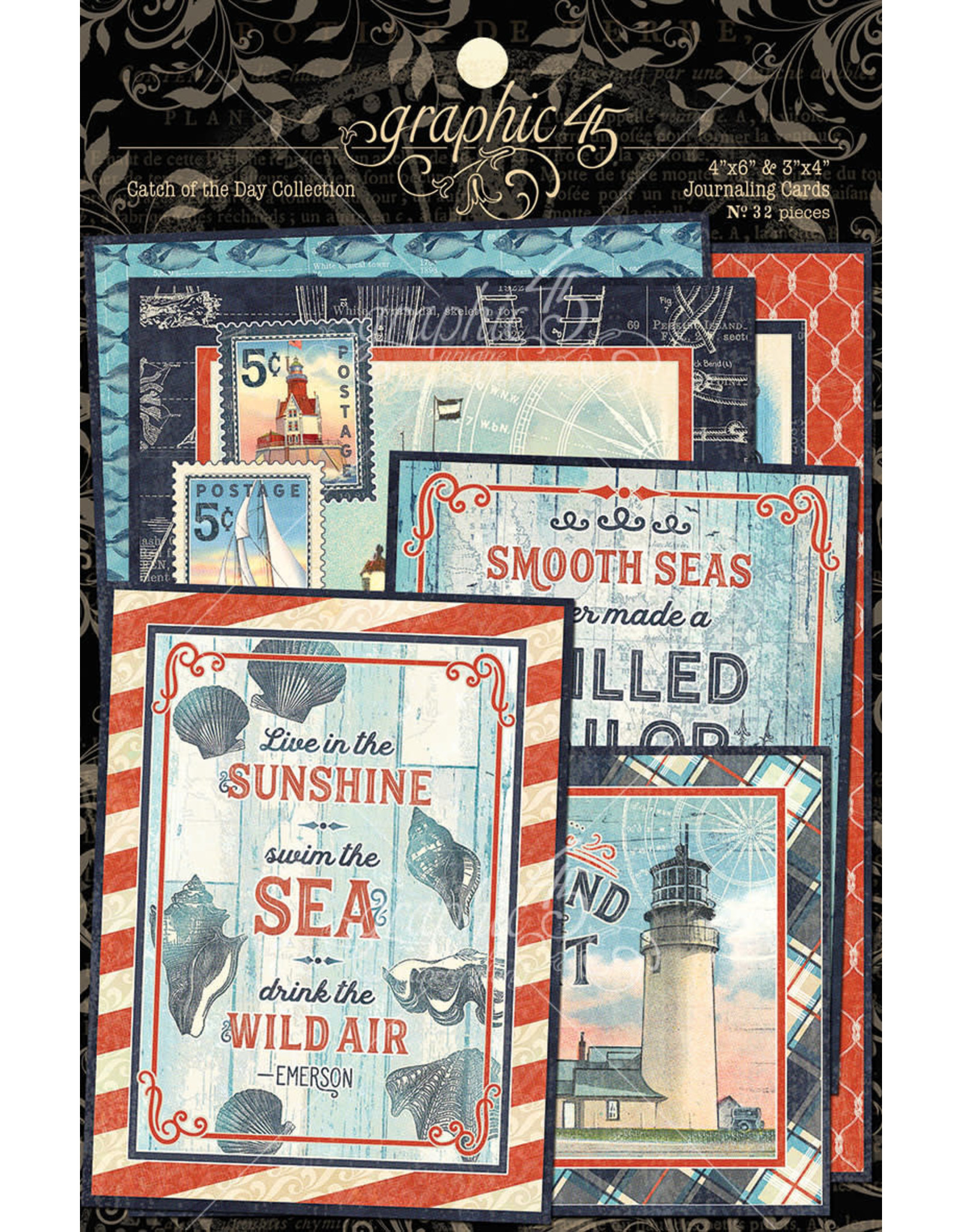 Graphic 45 Graphic 45  Catch of the Day Journaling cards