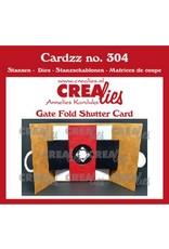 Crealies Crealies Cardzz Gate fold shutter CLCZ304 10 x 10 cm