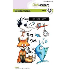 Craft Emotions CraftEmotions clearstamps A6 - Baby 2 Carla Creaties