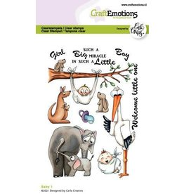 Craft Emotions CraftEmotions clearstamps A6 - Baby 1 Carla Creaties