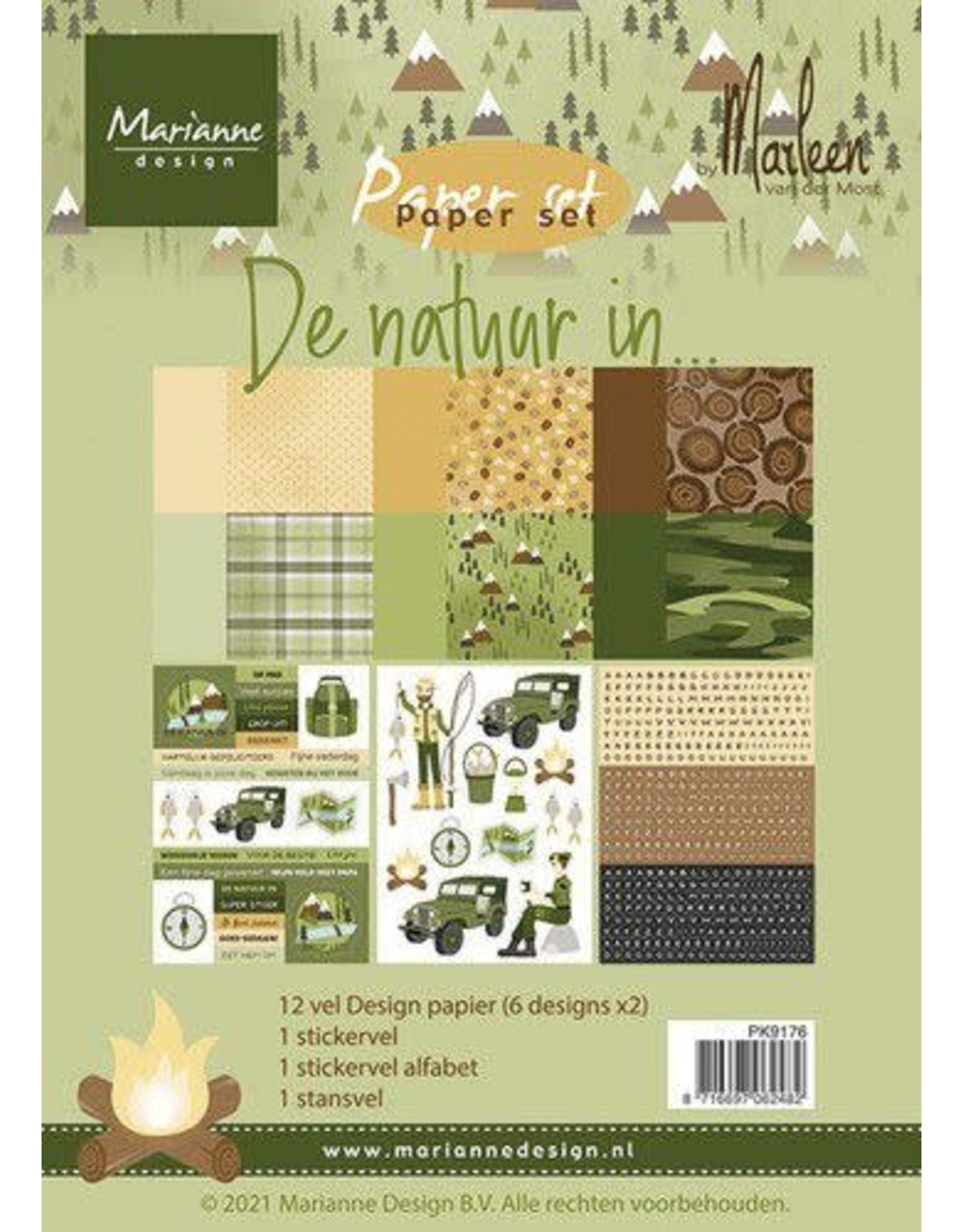 Marianne Design Marianne D Paper pad De natuur in By Marleen PK9176 A5