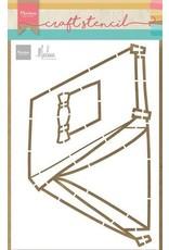 Marianne Design Marianne D Craft Stencil - Tent by Marleen PS8088 150x210mm (