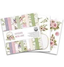 Piatek Piatek13 - Paper pad Stitched with love, 6x6'' P13-SWL-09