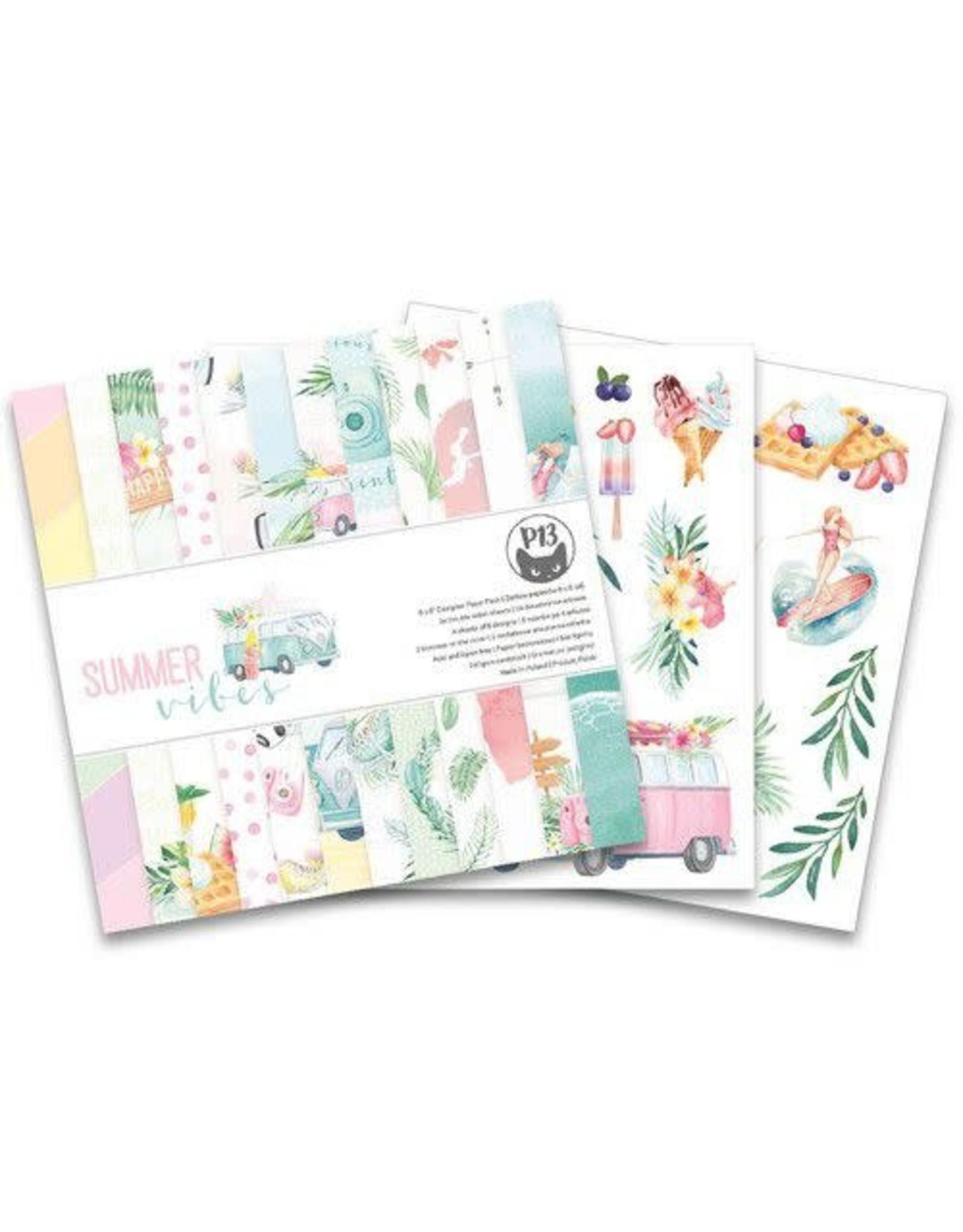 Piatek Piatek13 - Paper pad Summer vibes, 6x6'' P13-VIB-09