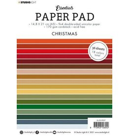 Studio Light Studio Light Paper pad Essentials Christmas nr.7 SL-ES-PP07 A5