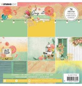 Studio Light Studio Light Paper pad Pattern Paper Say it with flowers nr.162 SL-SWF-PP162 150x150mm