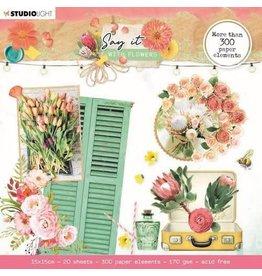 Studio Light Studio Light Die cut block Paper Elements Say it with flowers nr.667 SL-SWF-DCB667 150x150mm