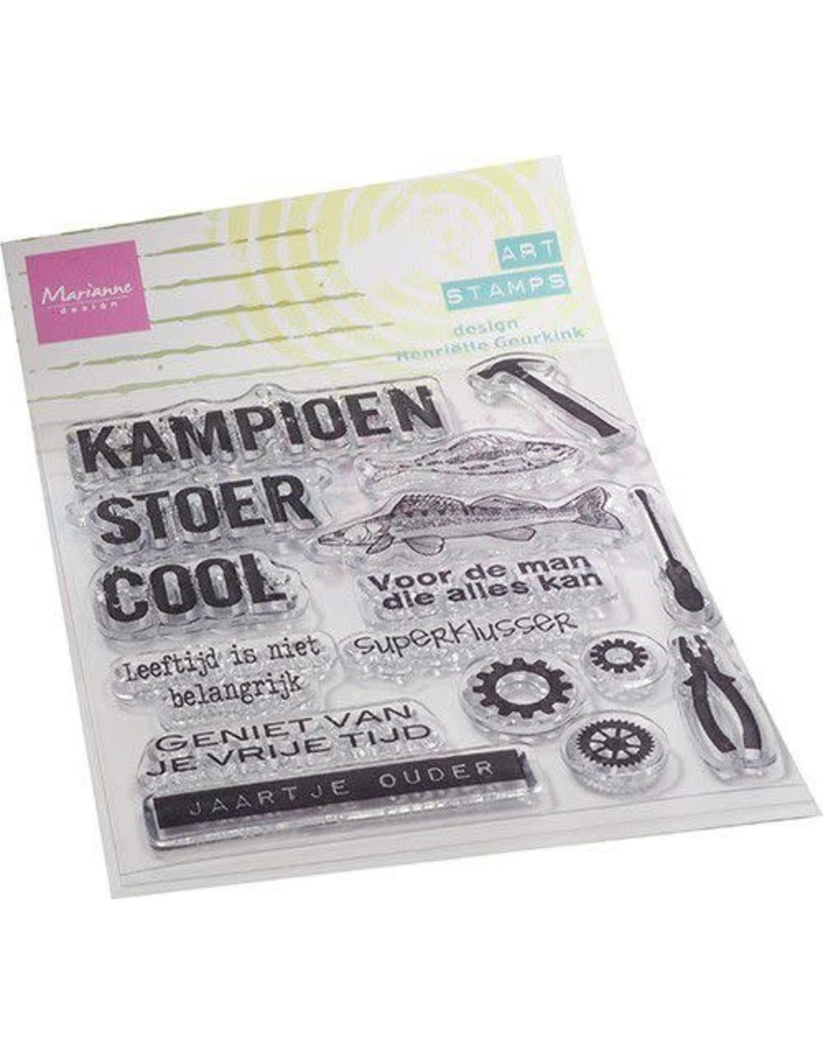 Marianne Design Marianne D Clear Stamps Art stamps - kampioen (NL) MM1647 87x108mm