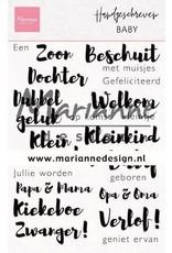 Marianne Design Marianne D Stempel Handgeschreven - Baby (NL) CS1051