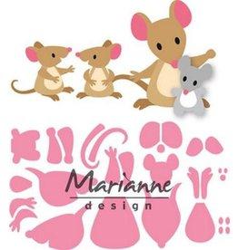 Marianne Design Marianne D Collectable Eline's muizenfamilie COL1437
