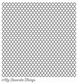 My Favourite Things My Favourite Things  Cling Rubber Stamp Moroccan Lattice Back Ground BG-57