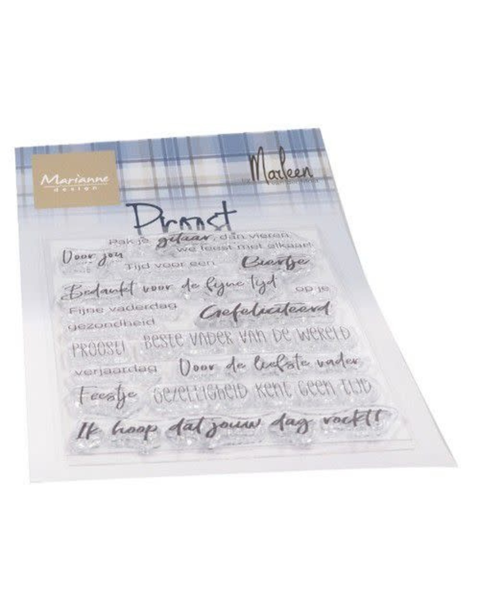 Marianne Design Marianne D Clear Stamps Proost by Marleen (NL) CS1056 83x117mm
