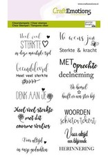Craft Emotions CraftEmotions clearstamps A6 - Condoleance (NL)
