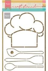 Marianne Design Marianne D Craft Stencil - Koksmuts & keukengerei PS8086 210x149mm