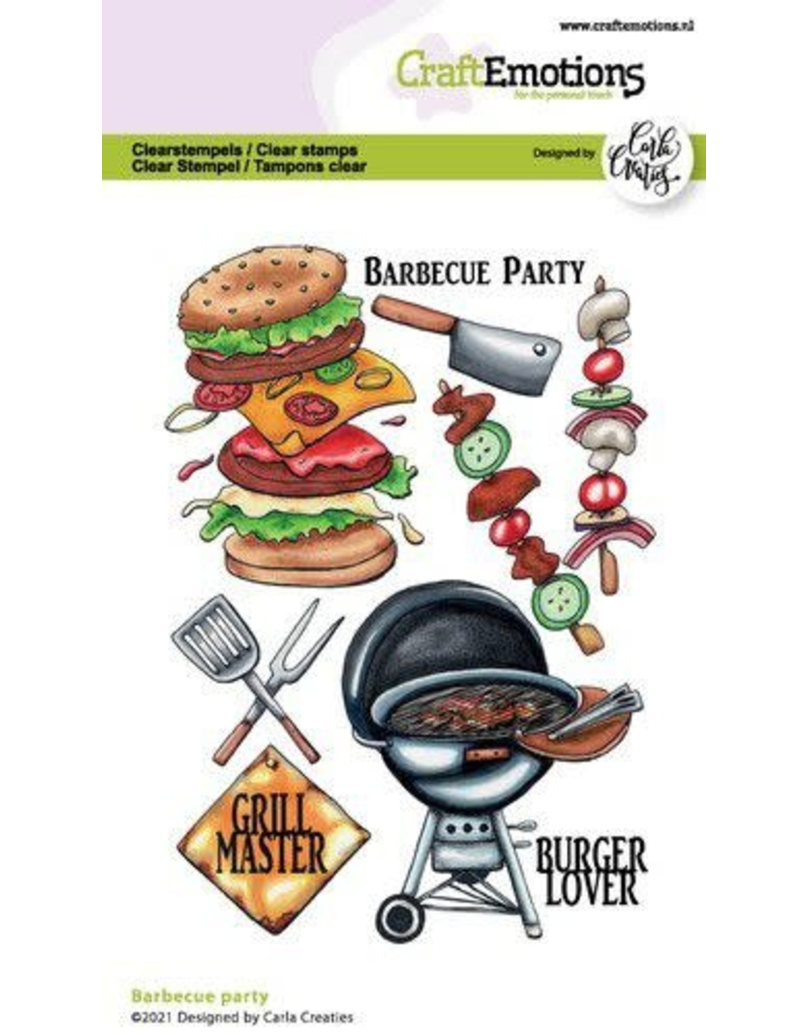 Craft Emotions CraftEmotions clearstamps A6 - Barbecue party Carla Creaties