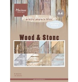 Marianne Design Marianne D Paperpad Wood Stone A4 PK9170 A4