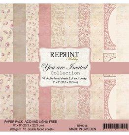 "Reprint Reprint You are invited  8""x 8"" (20.3 x 20.3cm)"